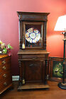 Antique French Carved Oak Display Cabinet Glass Bookcase Renaissance Revival