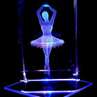 Ballerina S1 3D Laser Etched Crystal + Display Light Black Free Ship