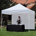 10'x10' Z SHADE COMMERCIAL SHELTER, SIDES, ZIPPERED DOOR, ROLLERED CARRY BAG