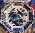Antique wall plate Delft Blue  Bird and flower rare  -- 2069 Holland - Partridge