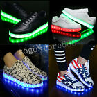 Men Women LED Luminous Night Light up Shoes Couples Sneakers Trainer USB Shoes