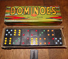 Vintage 1930s-40s HAL-SAM Double Six COLORED DOMINOES Complete Set in Box