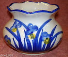 VINTAGE CHINESE GLAZED PORCELAIN BLUE  FLOWER FLORAL VASE MADE IN CHINA @@