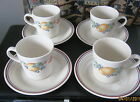 Corelle Coordinates Stoneware Abundance Pattern Cups and Saucers tea sets