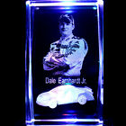 Dale Earnhardt Jr 3D Laser Etched Crystal + Display Light Black Free Ship