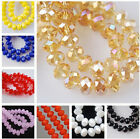 New Faceted Crystal Rondelle Loose Charm Glass Beads Jewelry 20 Colors 6mm 8mm