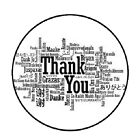 48 Thank You most Languages 16  ENVELOPE SEALS LABELS STICKERS 12 ROUND
