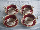 Fenton Radfords Rare Set of 4 Handpainted Cups and Saucers
