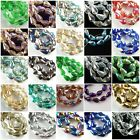 Bulk 20P Exquisite Teardrop Glass Crystal Faceted Spacer Jeweley Finding 10x15mm