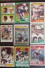 Steve Largent on card auto 9 card lot vintage free shipping nfl COA football