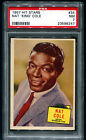 1957 Topps Hit Stars PSA 7 #34 Nat King Cole Graded 50's Rock Card Unforgettable