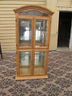 55243  Solid Oak Leaded Glass China Cabinet Curio