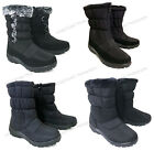 Womens Winter Boots Fur Lined Insulated Waterproof Zipper Ski Snow Shoes Sizes