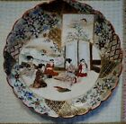 Antique hand-painted JAPANESE plate. 6+ border designs.Scene of five women.Clean