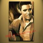 High-quality Hand-painted Portrait Oil Painting Art ELVIS PRESLEY The King 24x36