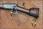 Custom Leather Buttstock Cover HENRY MARES LEG rifle gun ranch hand stock cover