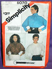 Uncut Simplicity Misses 8-12 Pullover Dolman Sleeve Blouse Top Pattern 6070