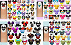 60x Disney Characters, Princesses Prince OR Villains Nail Art Decals + Free Gift