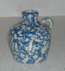 Miniature Blue & White Spongeware Stoneware Mini Jug