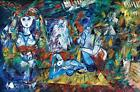 Ben Avram b.1937 (Israeli) Hommage to Picasso oil on canvas Lot 173