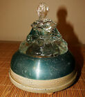Antique Musical Powder Jar 2 Tune Music Box Southern Bell Glass