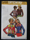 Vtg 70s Sewing Pattern Unlined Short Cropped Zip Front Jacket Jeans Style Sz 16