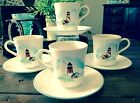 8 CORELLE OUTER BANKS LIGHTHOUSE 4 Cups & 4 Saucers