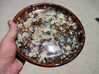Awesome Colored Glazed Vintage Signed Studio Art Pottery Small Platter Plate