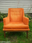 Knoll Eames Era Mid Century Danish Modern Orange Side Occasional Accent Chair