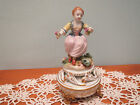 VINTAGE SEVRES FRENCH PORCELAIN FIGURINE LADY WITH FLOWERS