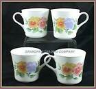 2 Corelle SUMMER BLUSH Pansy Pansies Cups Mugs EUC Made in USA Retired Pattern