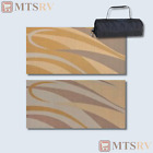 MMI Reversible Patio Mat 8x12 ft Brown Gold Swirl Durable Awning RV NEW