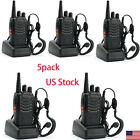 5 Pack Walkie Talkie Headset Two Way Radio 2 Long Range Security Patrol Police