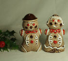 Vintage Gingerbread Boy and Girl Salt and Pepper Shakers Christmas Decor Japan