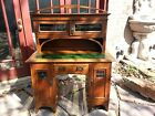 Antique Oak English Writing Desk/Hutch, circa late 1800's