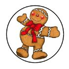 48 Christmas Gingerbread Man ENVELOPE SEALS LABELS STICKERS 12 ROUND