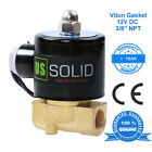 US Solid 3 8 12V DC Brass Electric Solenoid Valve Air Water Normally Closed
