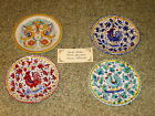 Lot of 4 Deruta Ceramic plates, gorgeous hand painted in Italy, NEW!