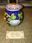 Deruta Ceramic Lemon Sunflower Biscotti Container Jar, hand painted in Italy NEW