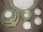 Royal Worcester EMBASSY LIGHT GREEN Fine Bone China 39 PIECES C1242