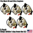 5 GY6 Carburetor 50cc Scooter Moped PD18J Carb QMB139 4 StrokeEngine GY 6