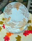 BRAND NEW- 222 Fifth GOLDEN FOLIAGE - SET of Four  Dinner Plates-THANKSGIVING !