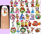 60x DISNEY CHRISTMAS Nail Art Decals + Free Gift  Mickey Minnie Mouse Minions