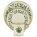 Lenox Holiday Christmas Ivory Bone China Dinnerware Tableware 12 Piece Set for 4