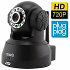 Brand New TENVIS JPT3815W-HD H.264 Megapixel P2P Smart IP Camera  (Black)