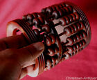 Chinese Cylindrical abacus Suan Pan Pen holder 16 Column 112 Count beads #745