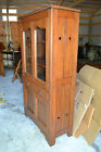 Wood Wavy Glass Pie Safe Jelly Cupboard Cabinet Primitive Antique Farm kitchen