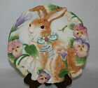 FITZ & FLOYD CLASSICS HALCYON COLLECTION BUNNY SNACK PLATE