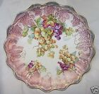 Beautiful Antique Empire China Co Fluted Scalloped Grape Pattern Plate