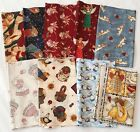 Angels Print Fabric Lot of 9 Pieces 1/4 YD Each Hoffman Mumm SSI Brands